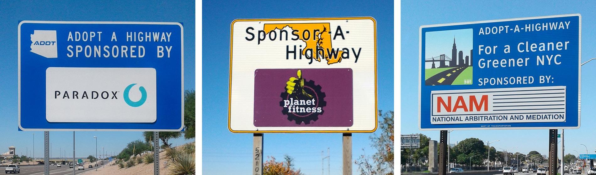 sponsor-a-highway signs